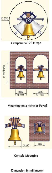 Tradtional personalized Yoke-Mounted Bell