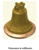 Decorative bronze Bell with traditional crown