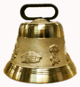 "Bronze personalized french cow bell Ø12cm (4""3/4)"