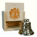 Paccard miniature bells - with traditional wooden box