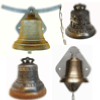 customized bronze bell for gate gift