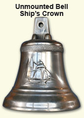 Customized  unmounted bronze bell with  ship's crown