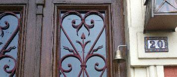 Cloche de porte d 39 entr e ou de portail en bronze - Acheter une porte d entree ...