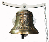 Traditional school bell -Oscillating mount Ø12,7cm - available