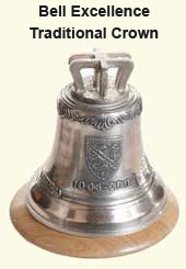 Excellence Bell with traditional crown
